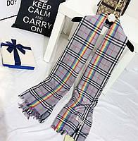Палантин шарф в стиле Burberry (Барбери) РАДУГА