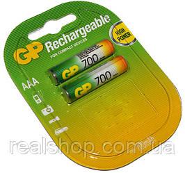 Аккумулятор AAA, 700 mAh, GP, 2 шт, 1.2V (Цена за 1 шт.)