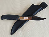 Нож Таран хром (рукоять эластрон), фото 2
