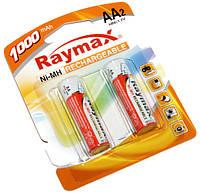 Аккумулятор AA, R6, 1000 mAh, Raymax, 2 шт, 1.2V