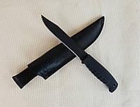 Нож Таран чёрный хром (рукоять эластрон)