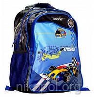 "Ранец-рюкзак Rainbow Jaquard 8-526 ""Racing"" 38х28х18см."