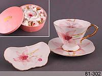 """Чайный набор """"орхидея"""" 18 предметов лефард"""