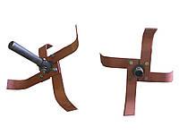 Культиватор в сборе к МБ Нева (валик+ступица+4 ножа)