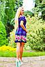 Цветочно-клетчатое летнее платье (0902-0903-0904-0905 svt), фото 3