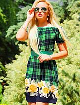 Цветочно-клетчатое летнее платье (0902-0903-0904-0905 svt), фото 2