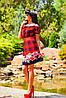 Цветочно-клетчатое летнее платье (0902-0903-0904-0905 svt), фото 4