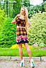 Цветочно-клетчатое летнее платье (0902-0903-0904-0905 svt), фото 5