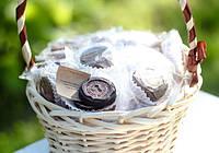 Букеты из конфет с предсказаниями Белый