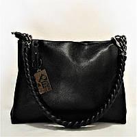 Кожаная женская сумочка черного цвета TСQ-740091, фото 1