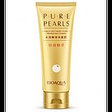 Пенка для умывания и очищения лица на основе жемчужной пудры BioAqua Pure Pearls , фото 4
