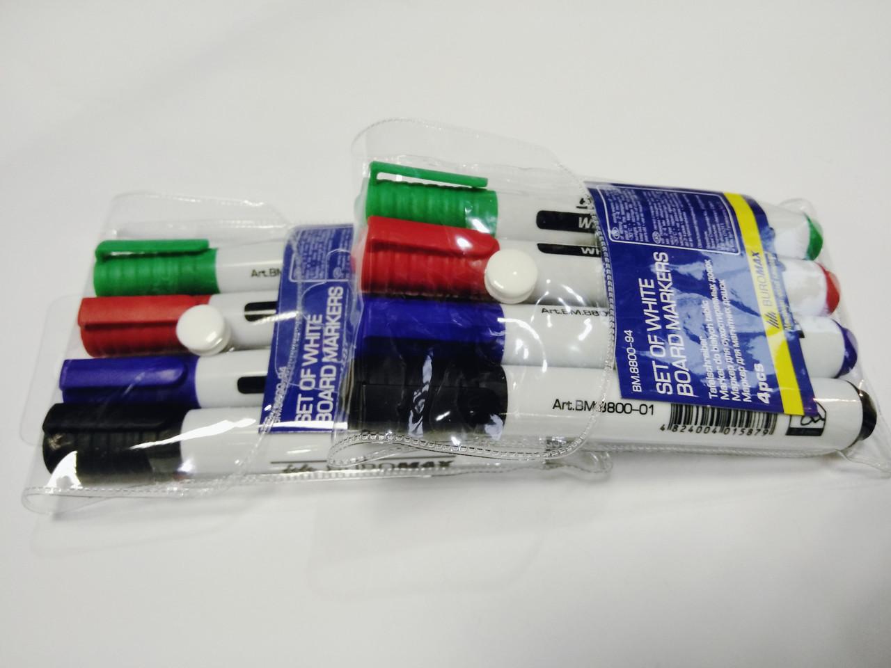 Набор маркеров для белой доски Buromax