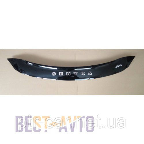 Дефлектор капота, мухобойка Nissan Sentra (B17) 2014- VIP
