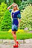 Легкое женское платье с тонким поясом (0923-0924 svt), фото 2