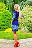 Легкое женское платье с тонким поясом (0923-0924 svt), фото 4
