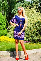 Легкое женское платье с тонким поясом (0923-0924 svt), фото 3