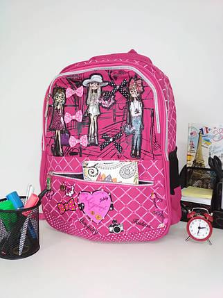 cd8d1cba5bf5 Стильный школьный рюкзак для девочки с анатомической спинкой Migini принт  Модницы 40*30*15