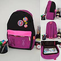 Школьный рюкзак для девочки с анатомической спинкой Migini принт Кошки 45*30*15 см, фото 2