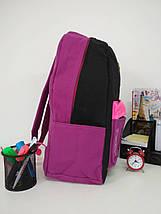 Школьный рюкзак для девочки с анатомической спинкой Migini принт Кошки 45*30*15 см, фото 3