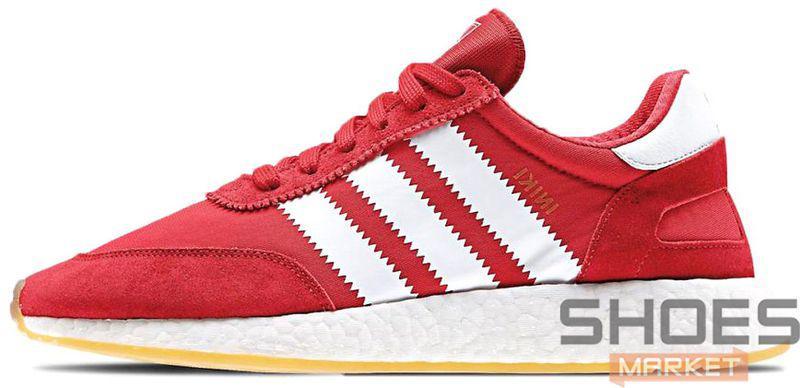 Женские кроссовки Adidas Iniki Runner (Red / Ftwr White / Gum)