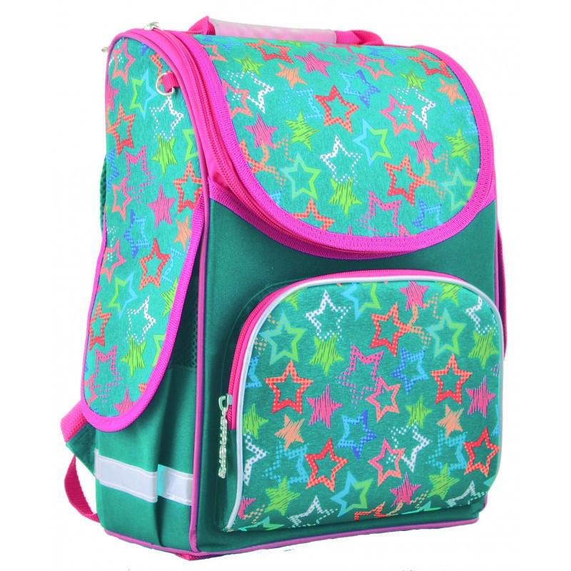7d73e6c2ba14 Ранец (рюкзак) - каркасный школьный для девочки бирюза - Звезды, PG ...