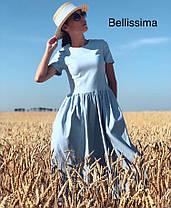 Платье летнее изхлопка с высокой талией, фото 2