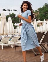 Платье летнее изхлопка с высокой талией, фото 3