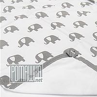 Непромокаємий пелюшка 80х60 см для новонародженого (100% бавовна) двостороння багаторазова 4242 Сірий, фото 1