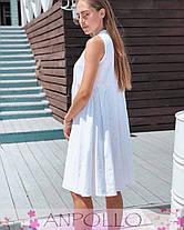 Платье сарафан летнее свободное без рукава лен, фото 3