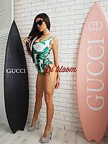 Ультрамодный сдельный купальник со шнуровкой , фото 3