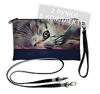 Клатч mini Сумний котик