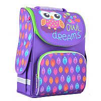 Ранец (рюкзак) - каркасный школьный для девочки фиолетовый - Сова, PG-11 Owl, Smart 554458