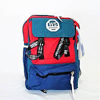 Интересный мужской рюкзак текстиль сине-красного цвета VRW-496220, фото 1