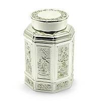 Баночка для чая металл (11х7,5х7,5 см) 28015