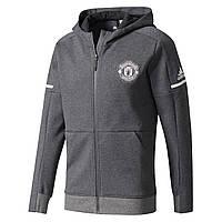 Футбольная олимпийка Манчестер Юнайтед 17/18 сезона, с капюшоном, фото 1