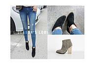 Стильные замшевые ботинки ботильоны 2 вида, фото 1