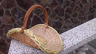 Корзинка для цветов плетеная из лозы