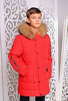 Куртка «Филл» зимняя для мальчика-подростка 9-12,14 лет (р. 36-42,46/134-152,164) ТМ MANIFIK Красный