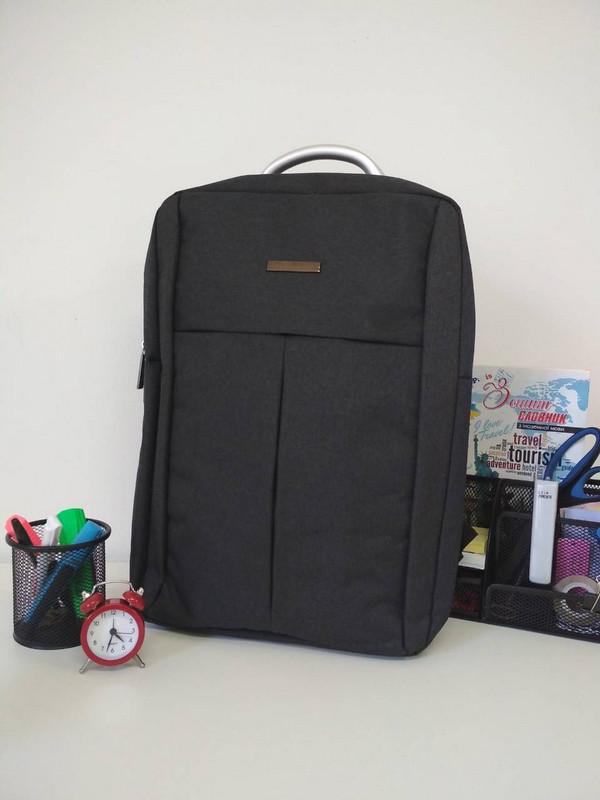 627eb47773d7 Школьный рюкзак для подростка темно-серого цвета 40*30*18 см - Styleopt
