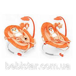 Детям шезлонг-качалка оранжевого цвета TILLY от 6 мес. до 1 года