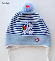 """Дитяча шапка """"Тедді"""" (весна) 6-12 міс, фото 1"""
