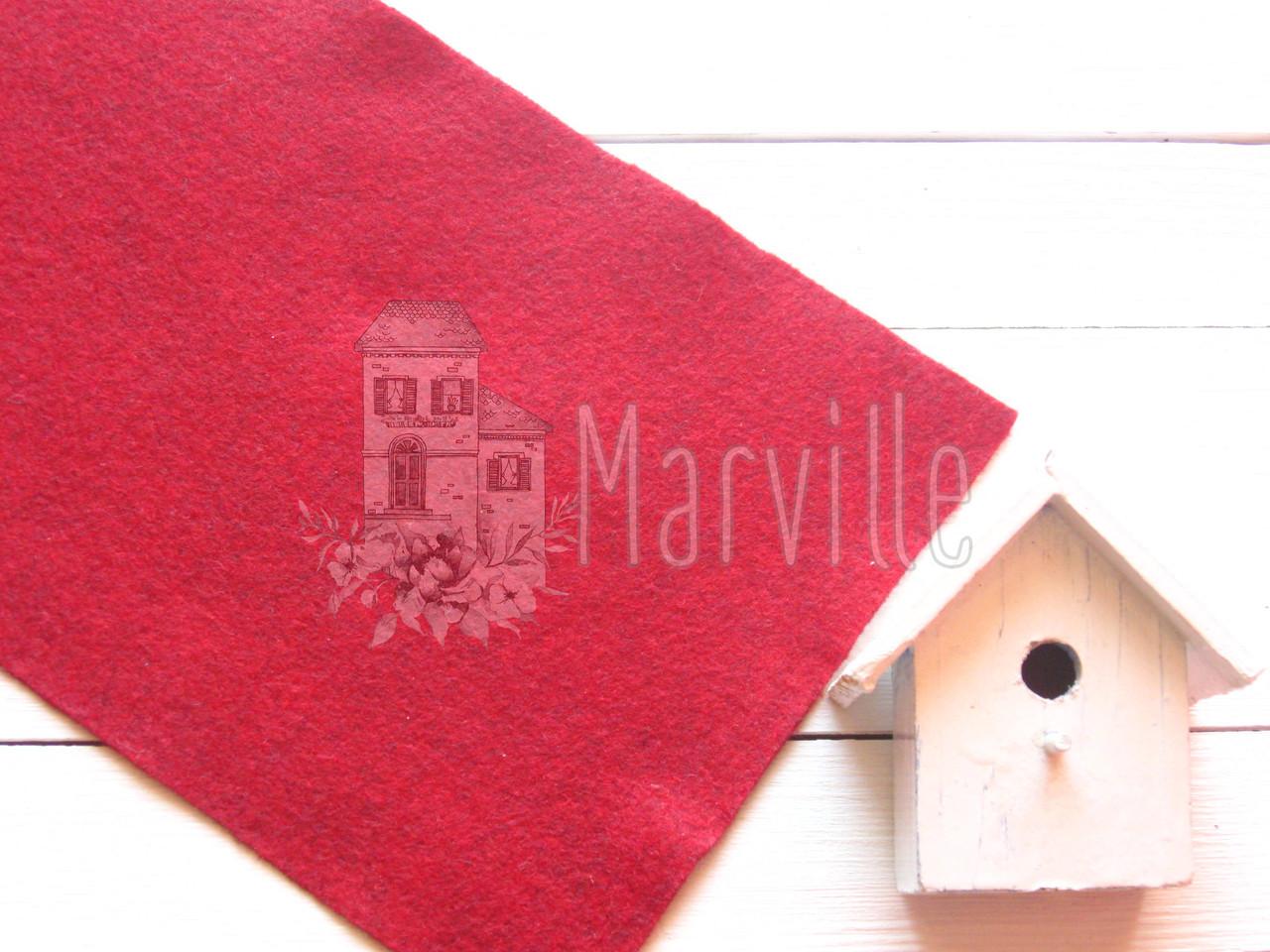Фетр американский мягкий  Багровый (2205 Barnyard Red)