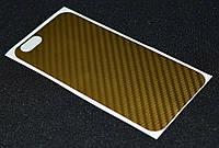 Наклейка карбон золото iPhone 6G ( Айфон 6,Защитная пленка, защита для телефонов, кейс, наклейка )