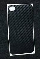 Наклейка карбон чорний iPhone 4G ( Айфон 4,Защитная пленка, защита для телефонов, кейс, наклейка )