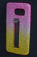 Чехол силиконовый Samsung G930/S7 Glitter Hold желтый