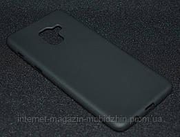 Чехол силиконовый Samsung A730/A8 Plus 2018 черный