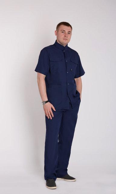 Мужской медицинский костюм Симон х-б, широкая гамма цветов 46-58