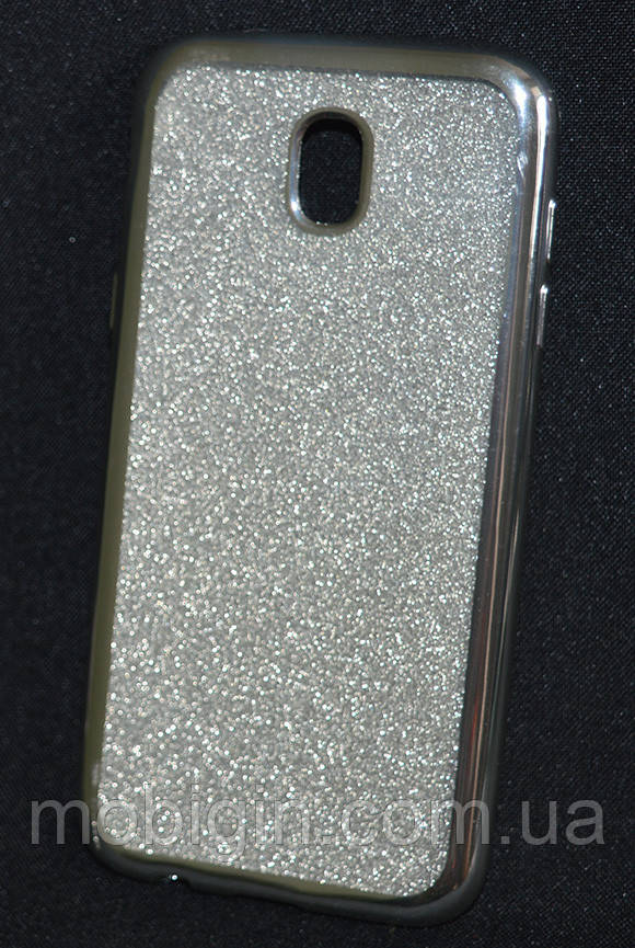 Чехол силиконовый Samsung J530/J5 2017 Glitter Air серебро