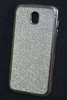 Чехол силиконовый Samsung J530/J5 2017 Glitter Air серебро, фото 1