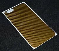 Наклейка карбон золото iPhone 4G  ( Айфон 4,Защитная пленка, защита для телефонов, кейс, наклейка )